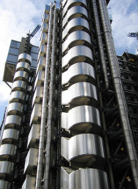 Letting its guts hang                       out - the Lloyds building