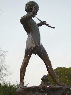 Peter Pan's statue in                       Kensington Gardens